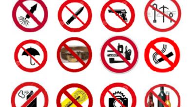 الاشياء الممنوع حملها في الطائرة الخطوط السعودية