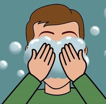 ادوات نظافة الوجه للاطفال